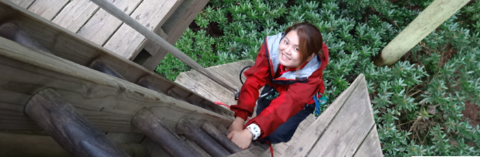 The first Forest Adventure in Kyushu